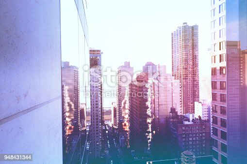 New York cityscape from a highrise building