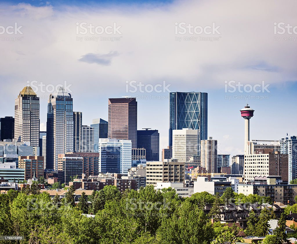 View of Modern North American Downtown stock photo