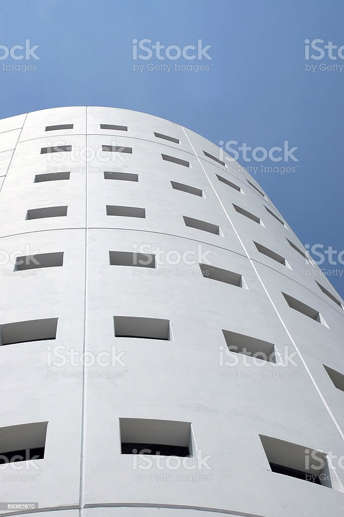 View of Modern Parking Structure royalty-free stock photo