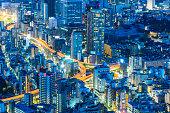 istock View of modern Tokyo city at night Japan 1160599236