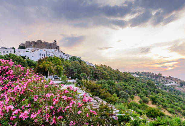 Blick auf das Kloster von st. John auf der Insel Patmos – Foto