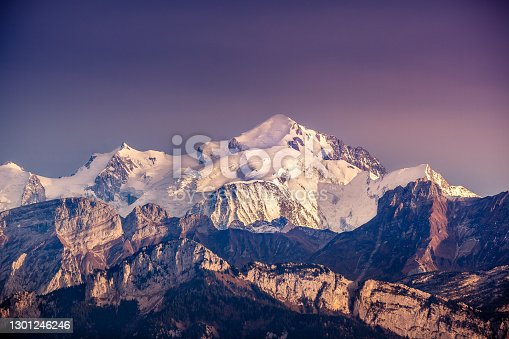 istock View of Mont Blanc summit from Mont Salève, Haute-Savoie, France 1301246246