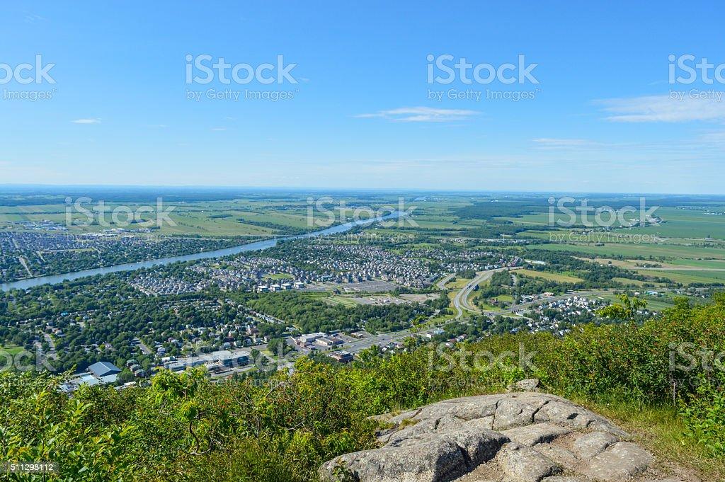 View of Mont Saint Hilaire stock photo