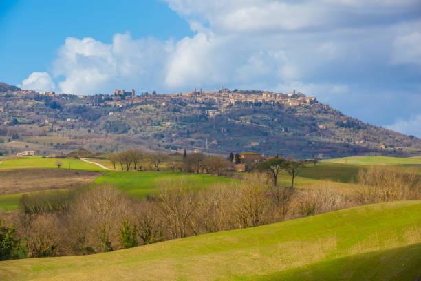 View of Montalcino (Tuscany, Italy) stock photo