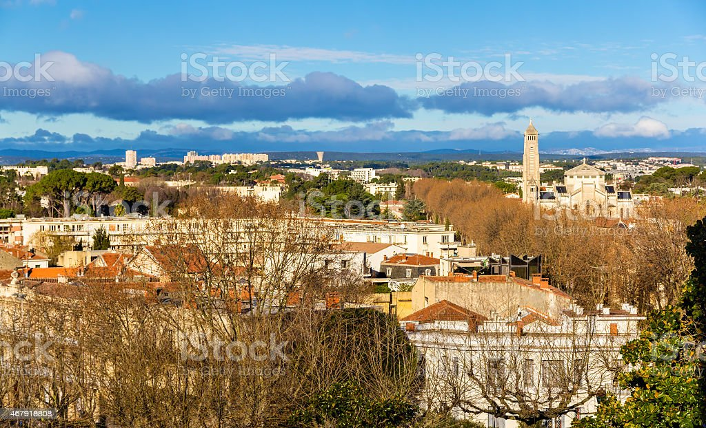 View of Montpellier - France, Languedoc-Roussillon stock photo