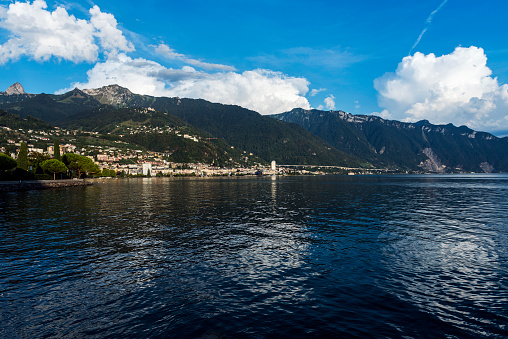 View of Montreux City in Switzerland