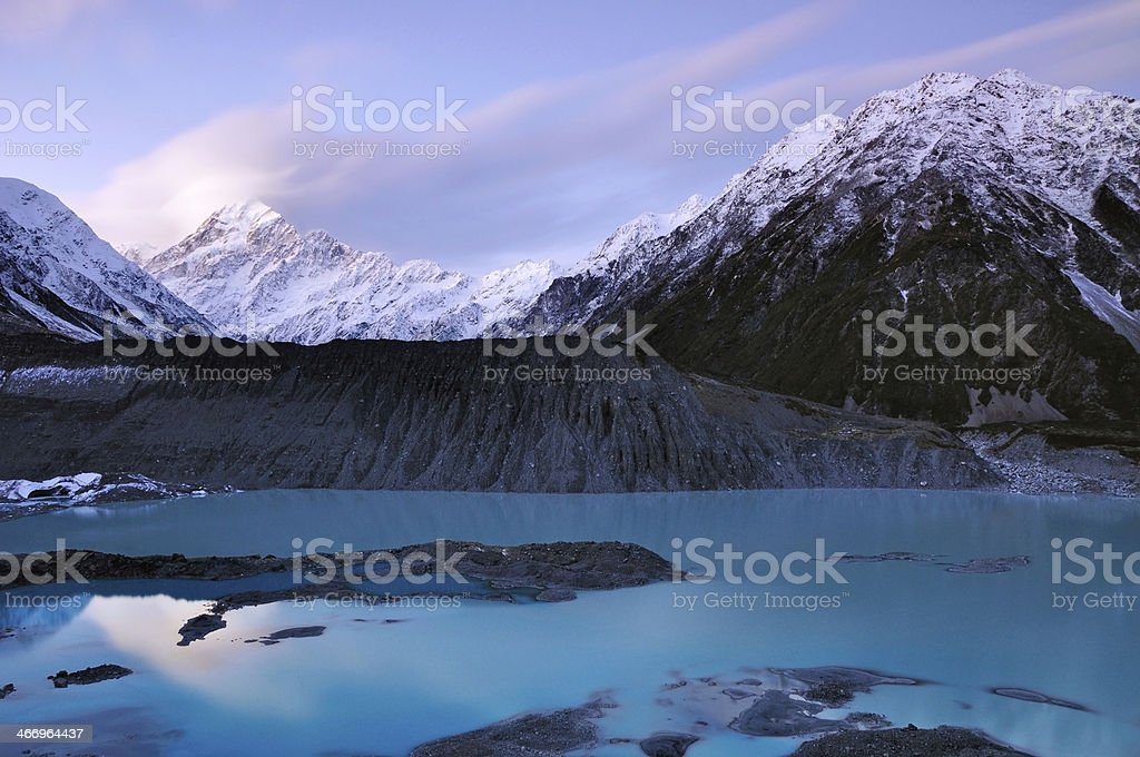 View Of Mount Cook New Zealand royalty-free stock photo