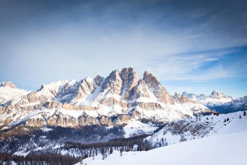 View of Mount Cristallo at Cortina d'Ampezzo