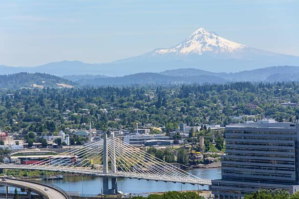 View of Mount Hood in Portland, Oregon USA – Foto