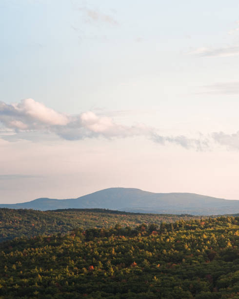 A view of Mount Wachusett in Central Massachusetts stock photo