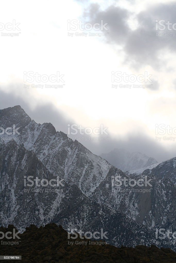 View of Mount Whitney stock photo