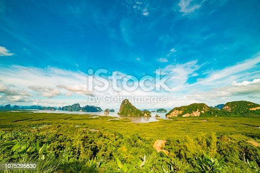 istock View of mountain an sea 1075295830
