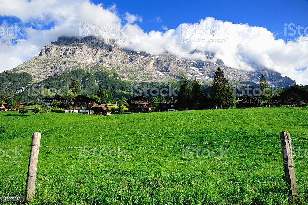 View of Mountain in Switzerland stock photo