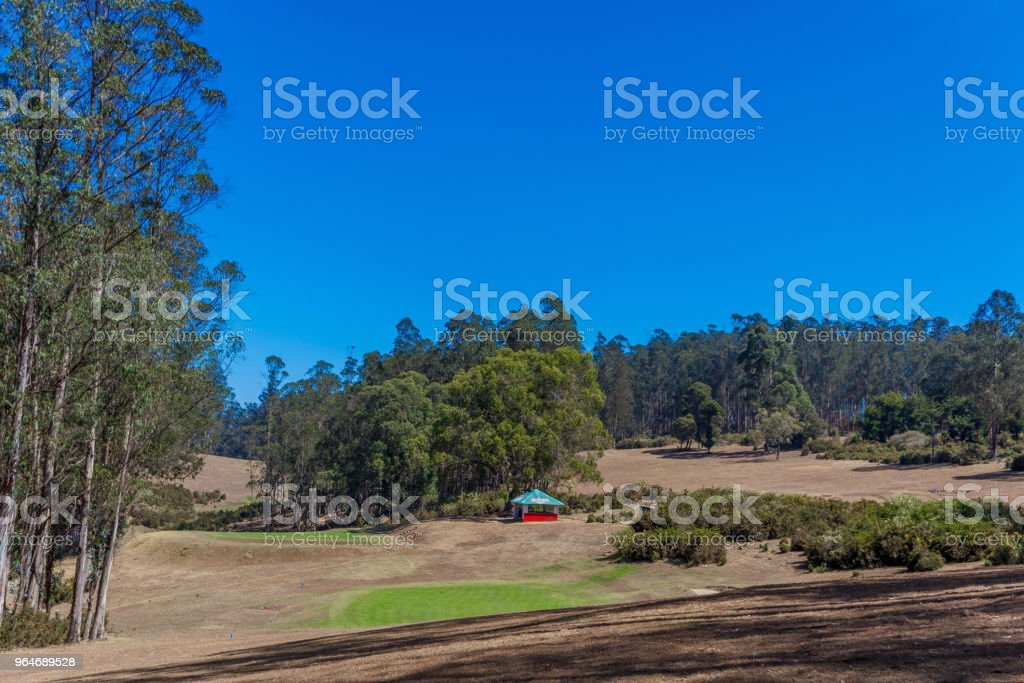 View of mountain landscape with clouds ooty royalty-free stock photo