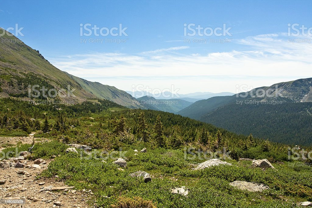 View of Mountain Range from Arapahoe Pass Trail royalty-free stock photo