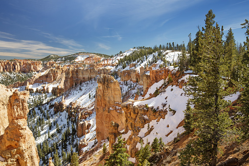 view of mountain slope in Bryce Canyon, Utah