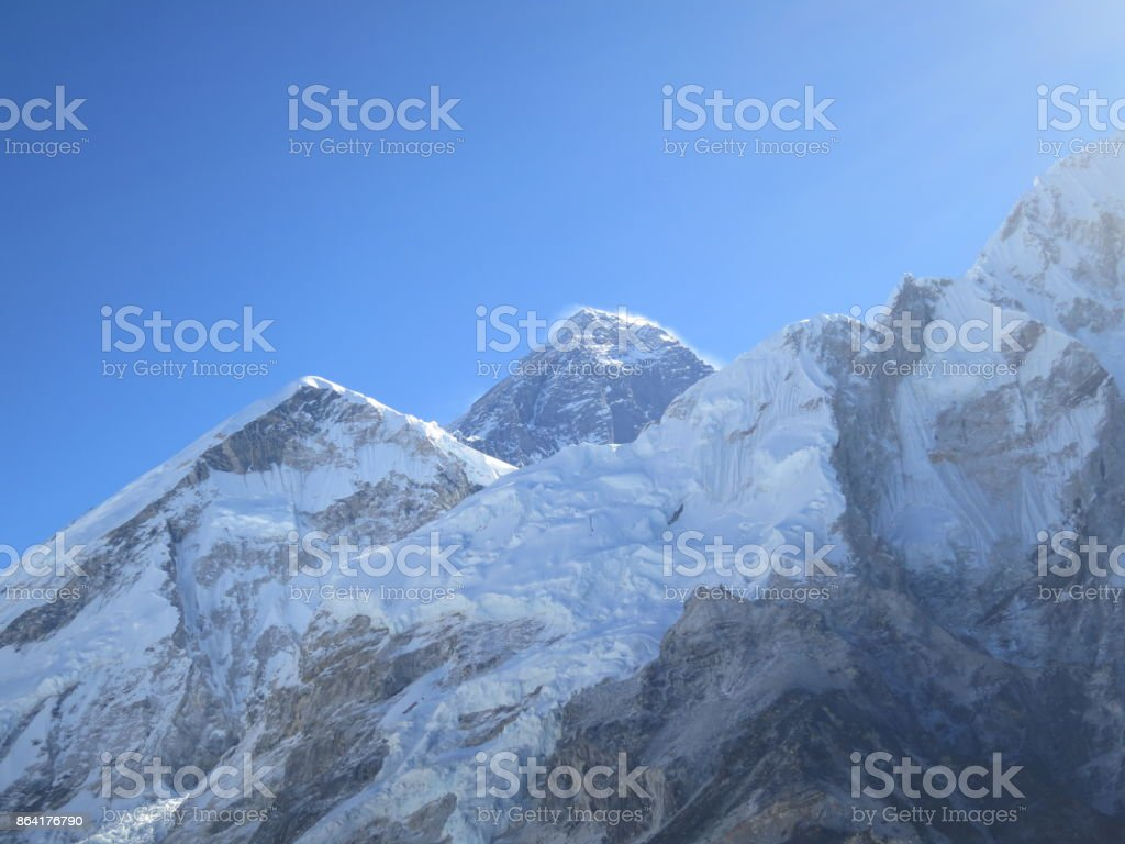 View of Mt Everest royalty-free stock photo
