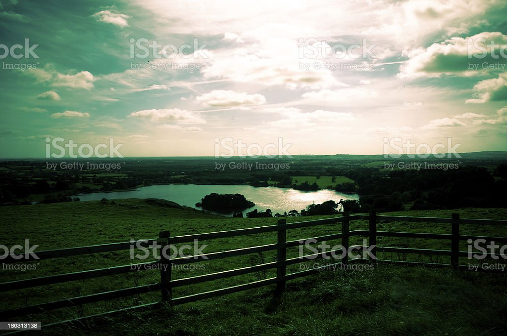 View of Mullagh Lake stock photo