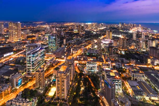 view of mumbai city from floor 75 - индия стоковые фото и изображения