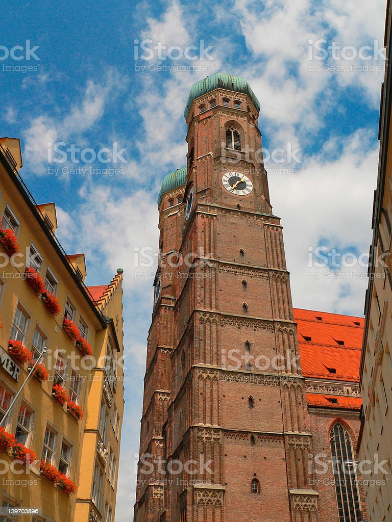 View of Munich's Cathedral royalty-free stock photo