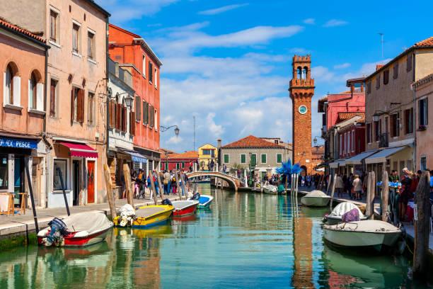 View of Murano, Italy. stock photo