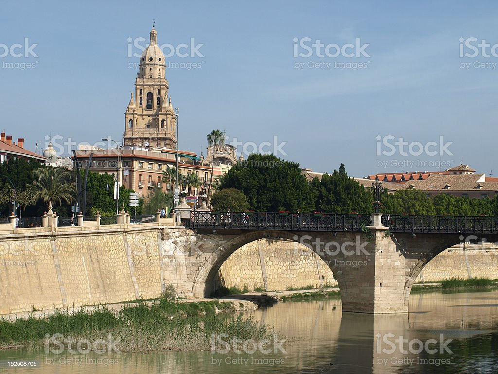 View of Murcia, Spain stock photo