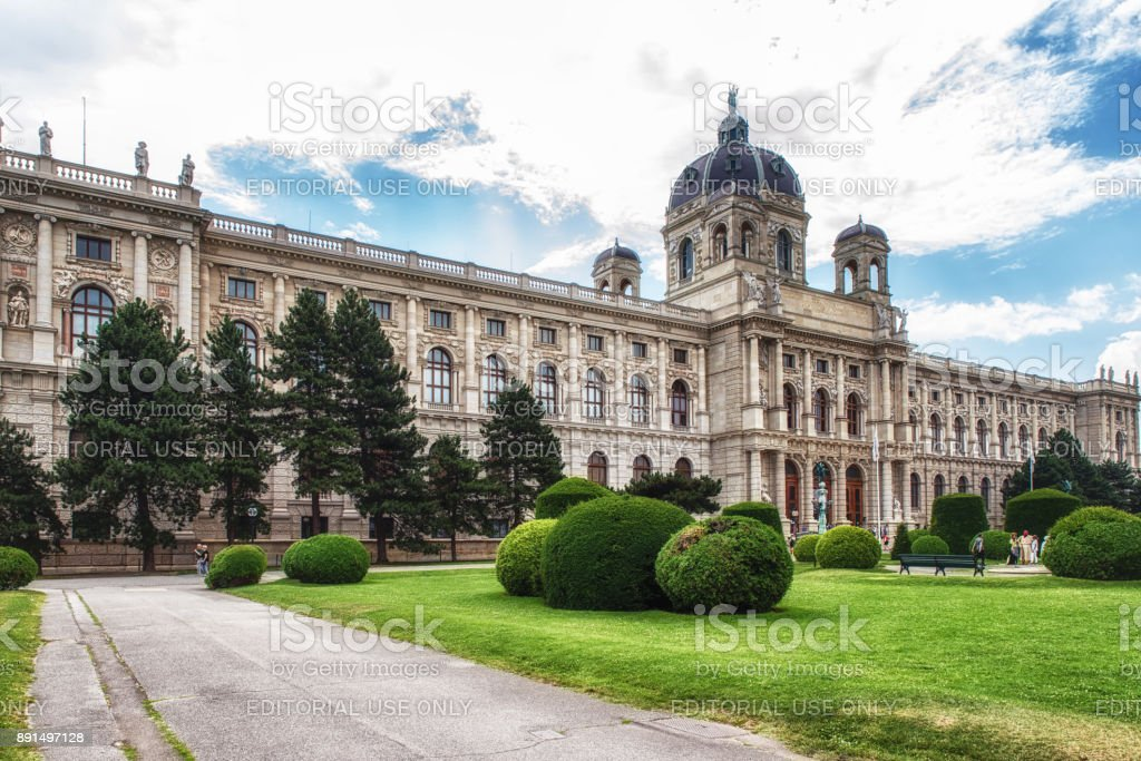View of Museum of Natural History, Vienna, Austria stock photo