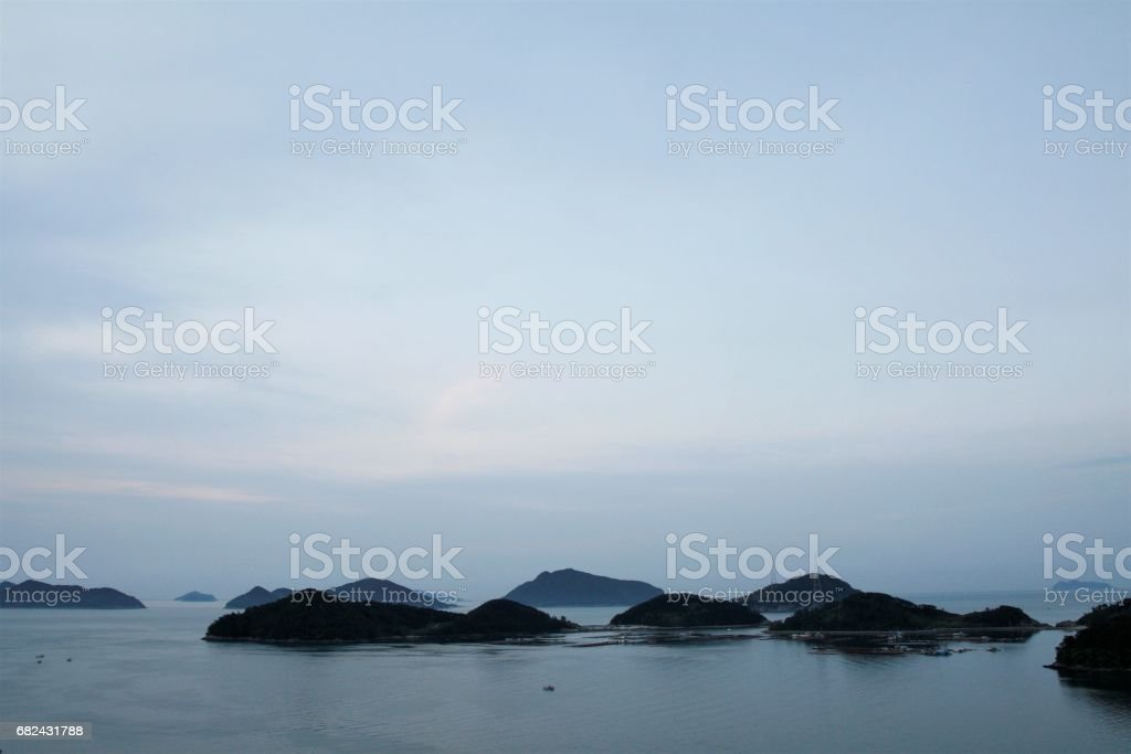 View of Namhae sea,  TONGYEONG, KOREA royalty-free stock photo