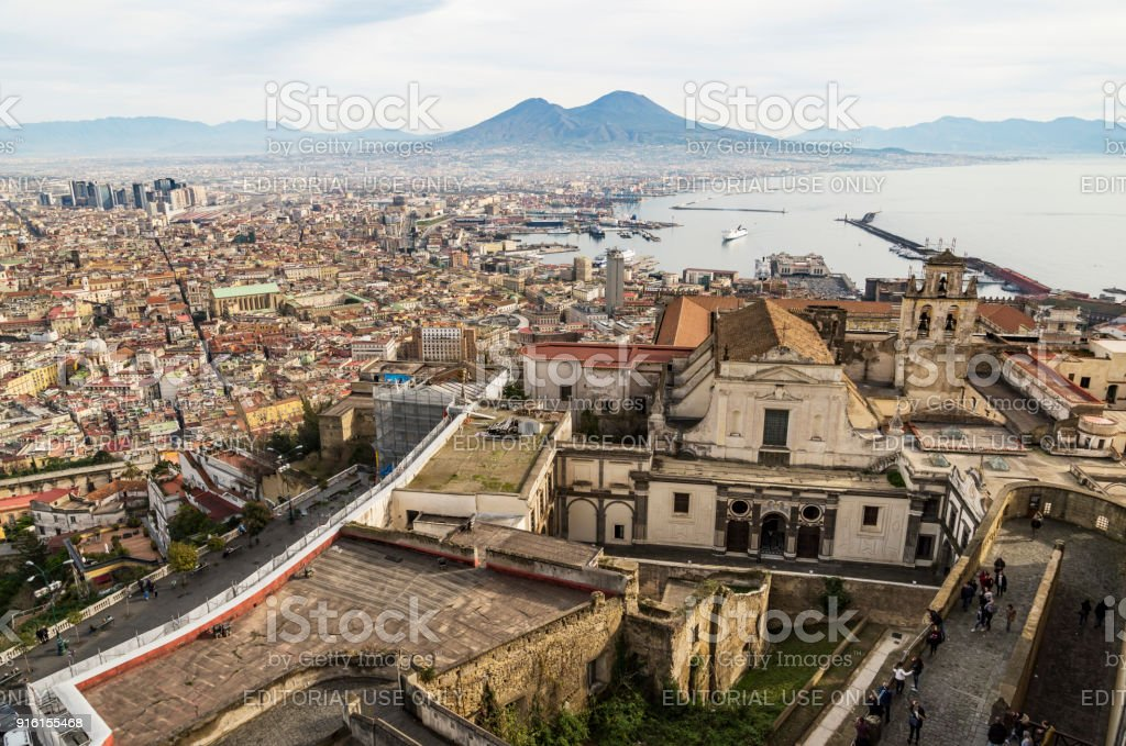 View of Naples from Castle Sant Elmo stock photo