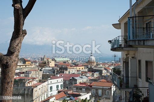 View of Naples abandoned in cronavirus time
