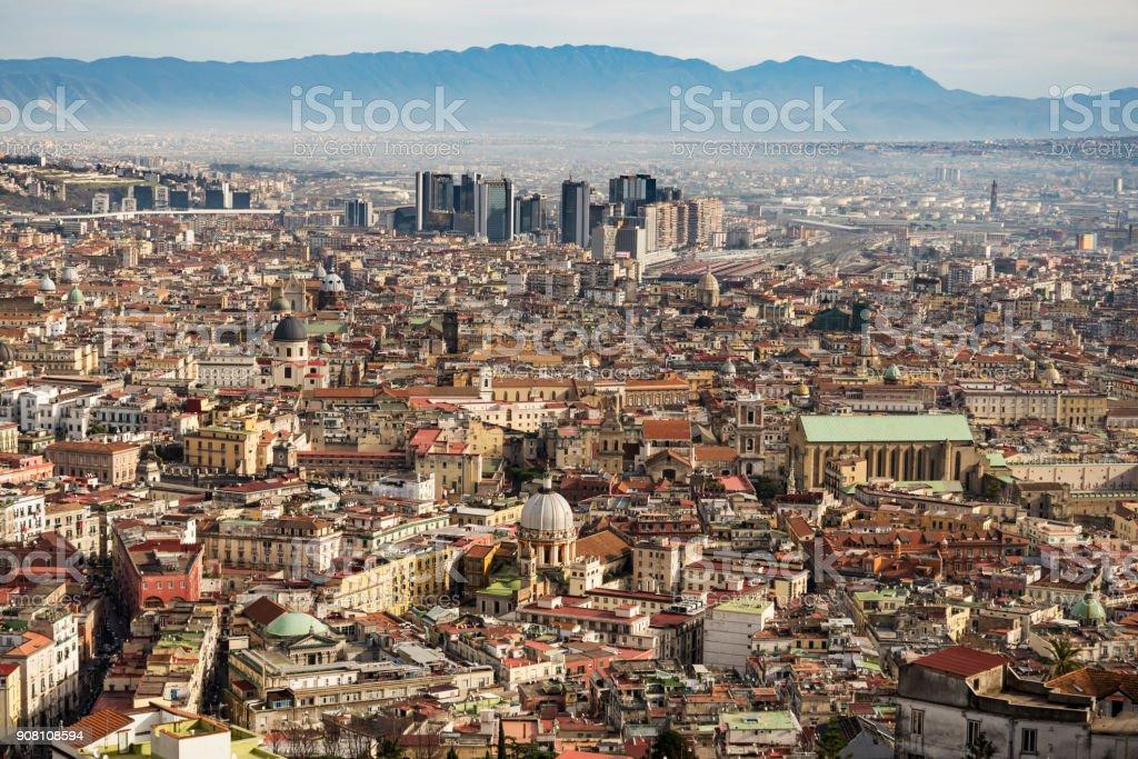 View of Naples stock photo