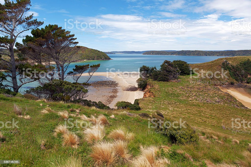 View of Native Island from Stewart, Wohlers lookout stock photo