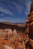 Vista of Natural Hoodoos and Sandstone in Bryce Canyon, Utah