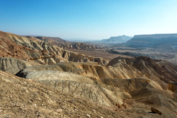 View of Negev desert landscape. View of Negev desert landscape. Southen Israel. negev stock pictures, royalty-free photos & images