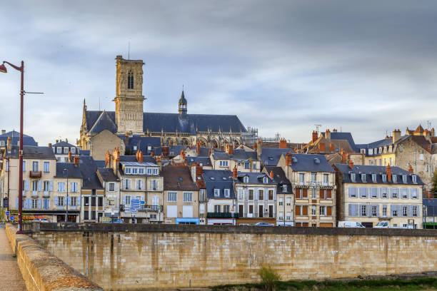 Blick auf Nevers, Frankreich – Foto