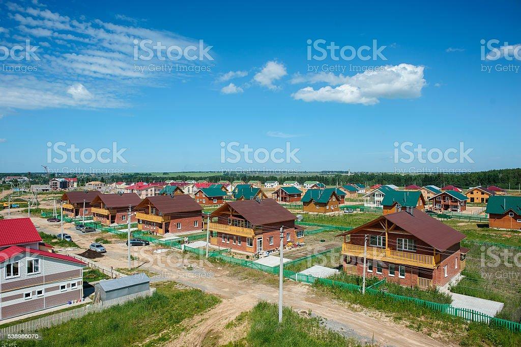 View of New Contemporary Suburban Neighborhoods stock photo