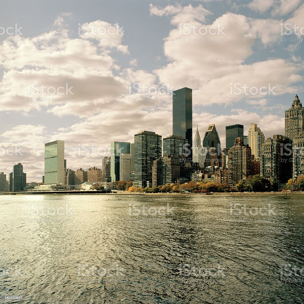 View of New York City across the East River - Royalty-free Architecture Stock Photo