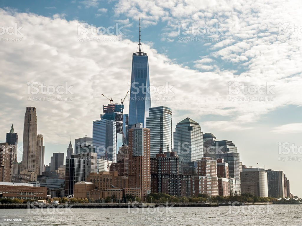 View of New York City from New Jersey stock photo