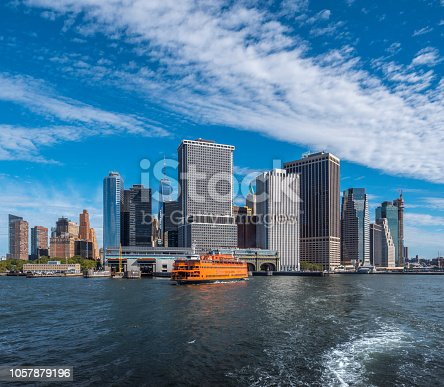 Staten Island Ferry leaving her  New York Harbour