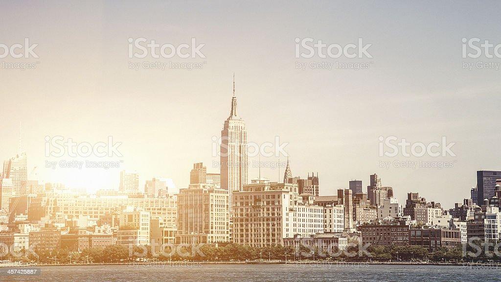 View of New York skyline royalty-free stock photo