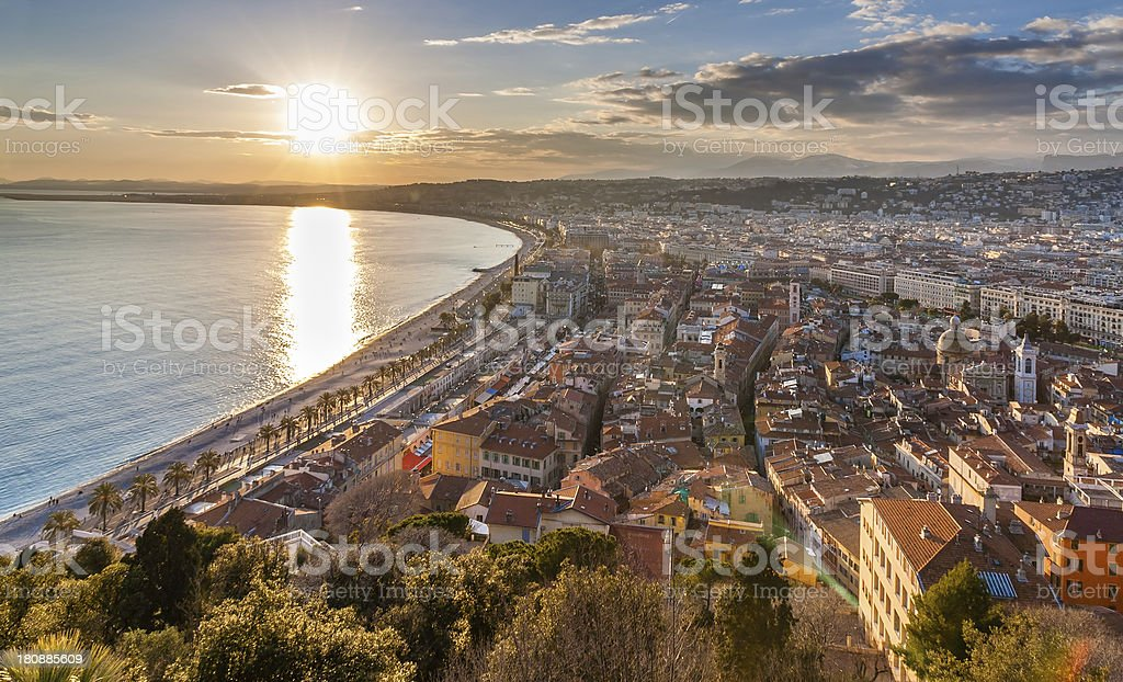 View of Nice city - Cote d'Azur,  France stock photo