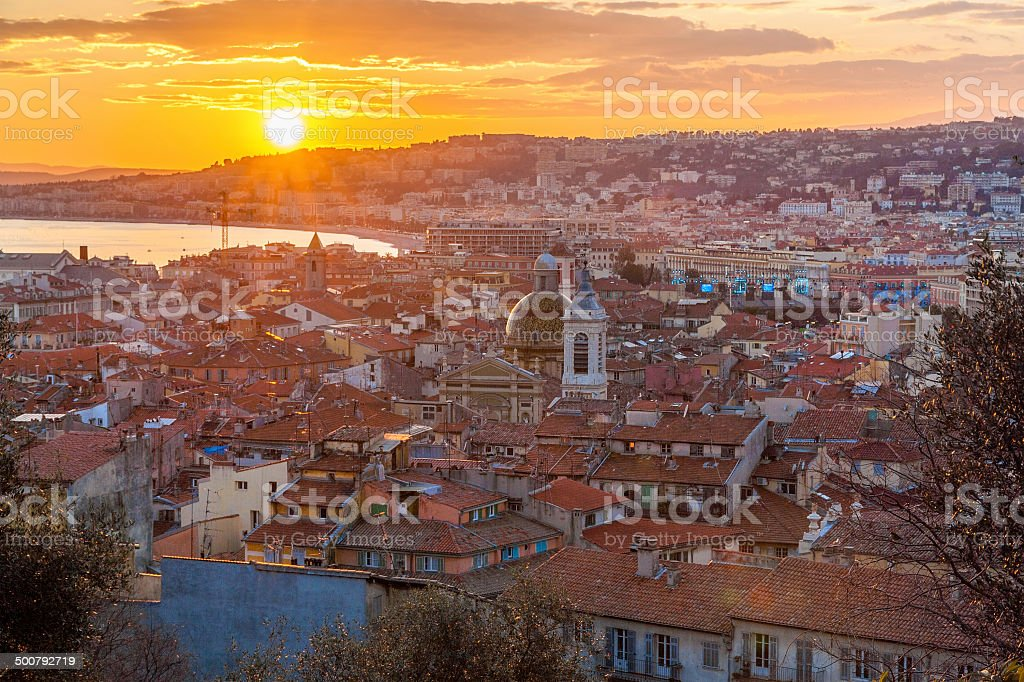 View of Nice - Cote d'Azur -  France stock photo