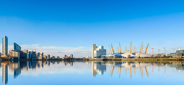 View of North Greenwich in London stock photo