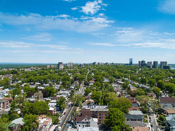 view of northern nj from cliffside park - north stock photos and pictures