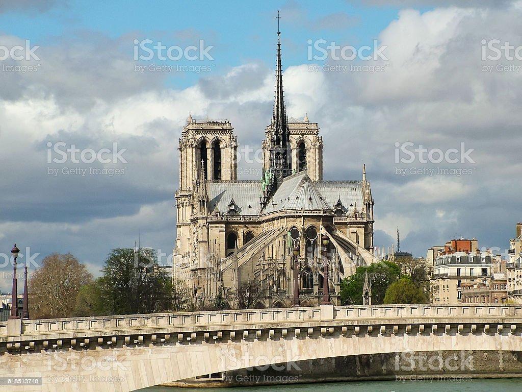 View of Notre Dame de Paris stock photo