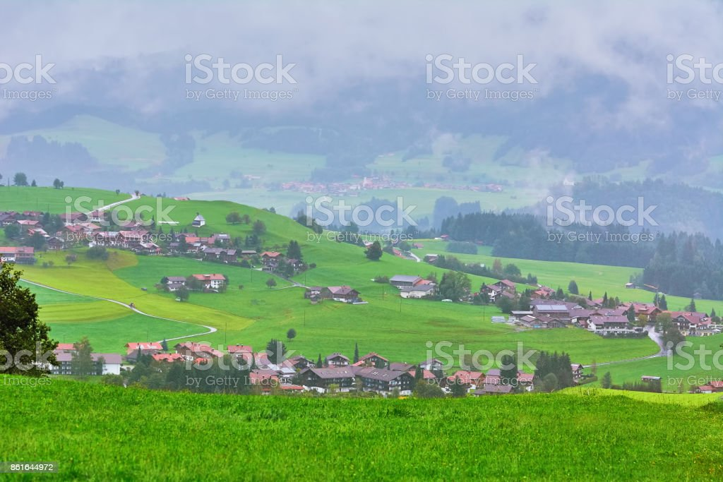 View of Obermaiselstein stock photo