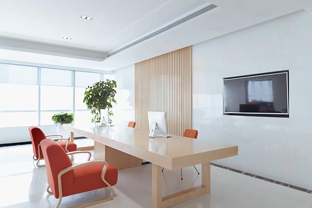 View of office reception area - foto de acervo