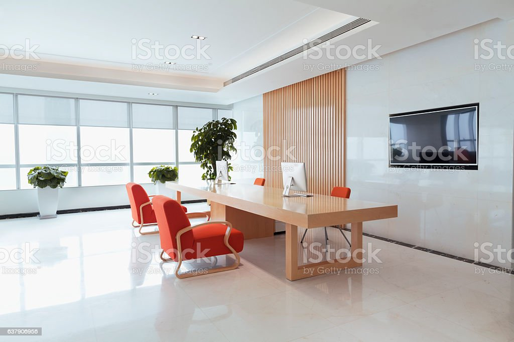 View of office reception area stock photo