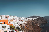 istock View of Oia and Fira on the cliffside of Santorini 1281899895