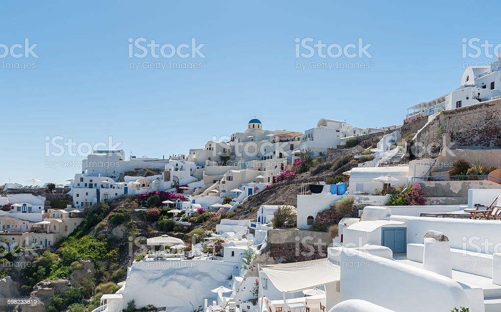 View of Oia in Santorini island foto royalty-free